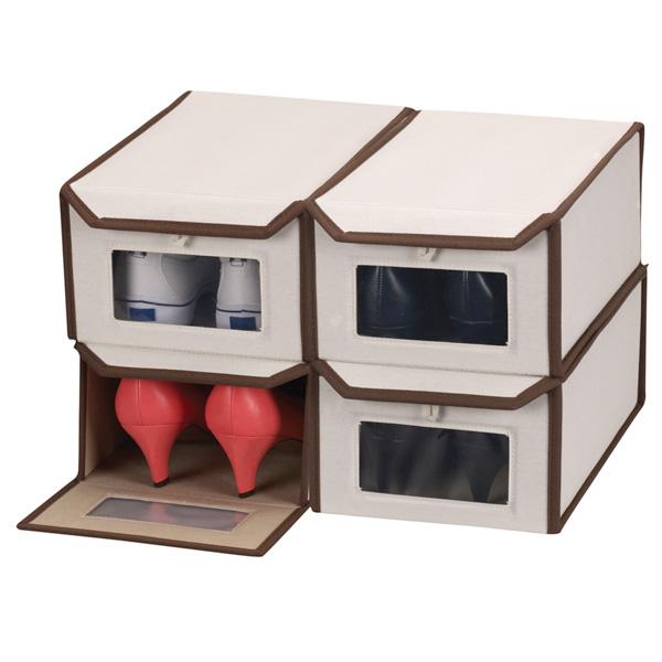 shoe storage boxes canvas babilo store