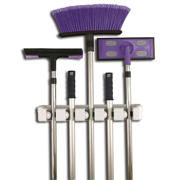 mop broom magic holder 5 position babilo store. Black Bedroom Furniture Sets. Home Design Ideas